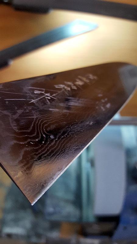 заточка японского ножа