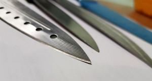 Заточка кончика ножа