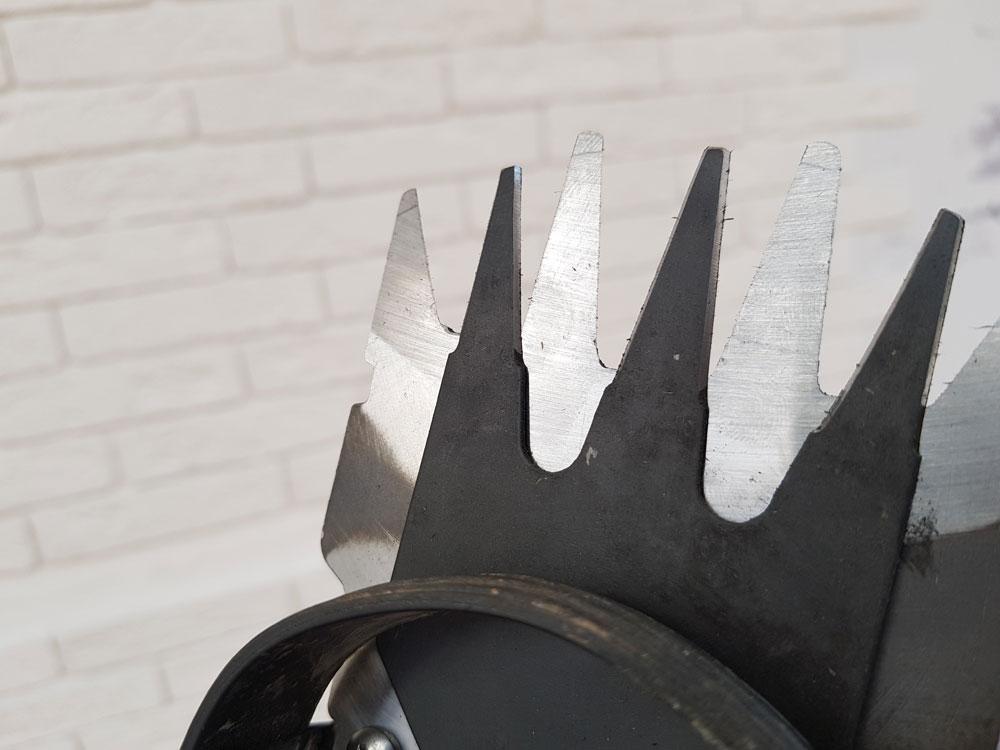 Заточка ножей: ножи от кустореза после заточки