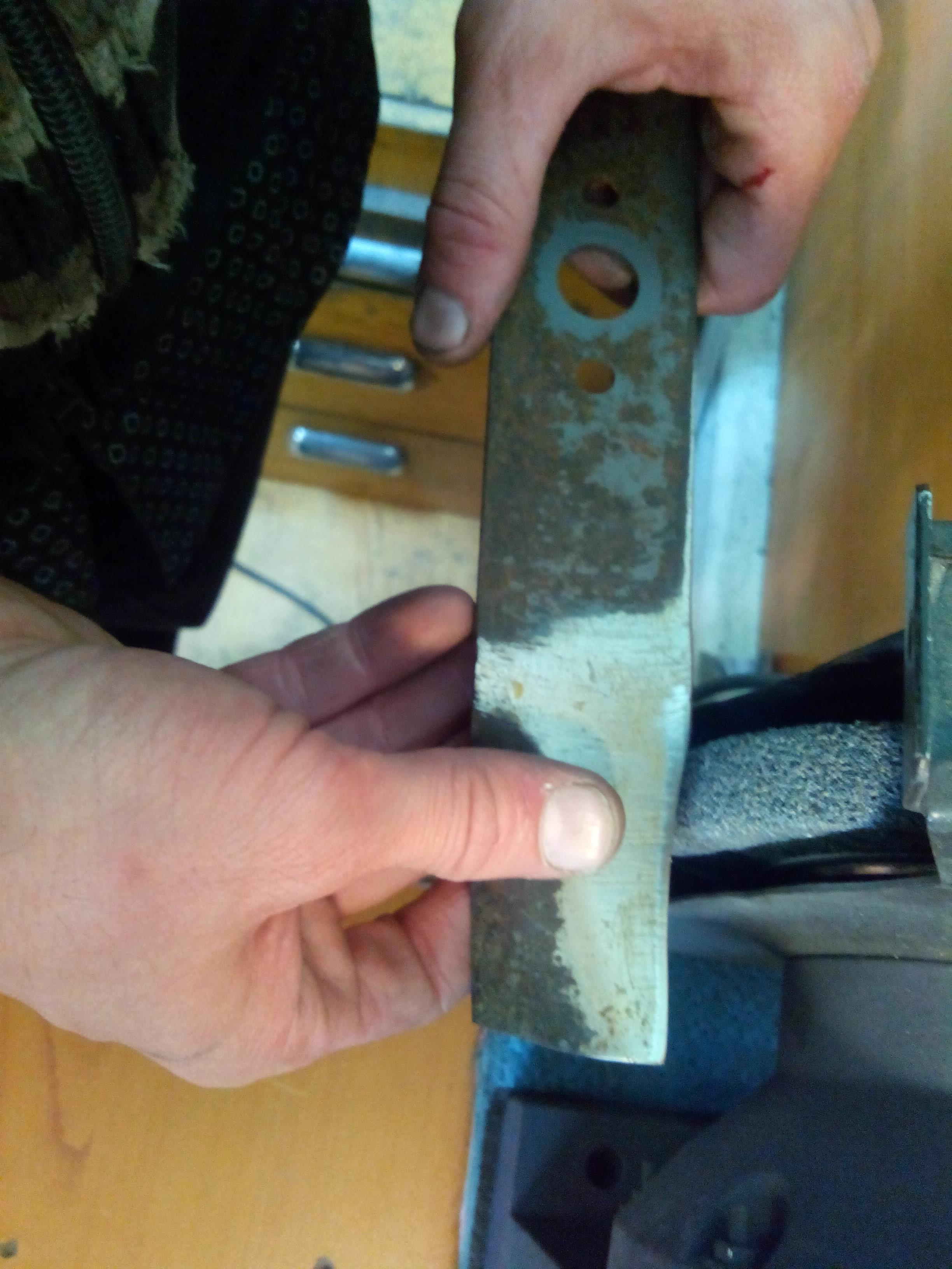 Заточка ножей для газонокосилки своими руками