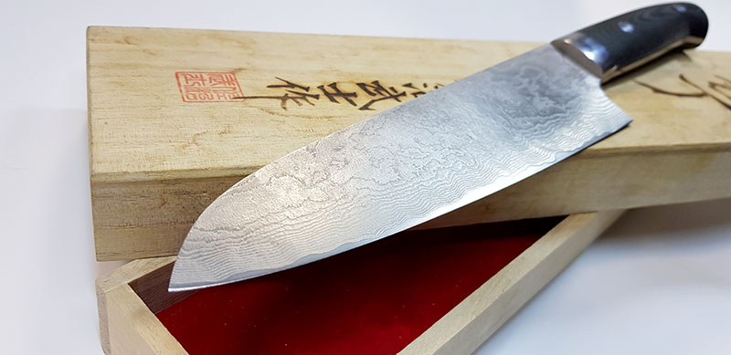заточка японского кухонного ножа